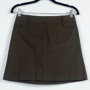 Ann Taylor Loft Brown Mini-Skirt Size 2 Petite